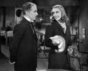 Verdoux decides to spare the Girl's life after discussing Schopenhauer and their shared cynicism. © 1947 - Warner Bros. All Rights Reserved.