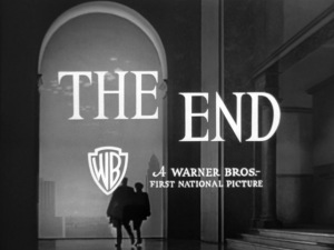 The film ends with Mildred and Bert walking through an archway at dawn, as though they are remarried and starting anew, free of Veda and her evil. © 1945 – Warner Bros. All Rights Reserved.