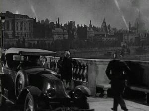 The titular bridge/prostitution hot spot, during an air raid. © 1931 – Universal Pictures. All Rights Reserved.