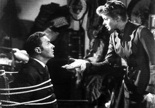 One of the best scenes in the film comes later, when the tables are turned. Paula, at the end of her ropes, confronts the roped-up Anton about his elaborate ruse. © 1944 – MGM. All Rights Reserved.