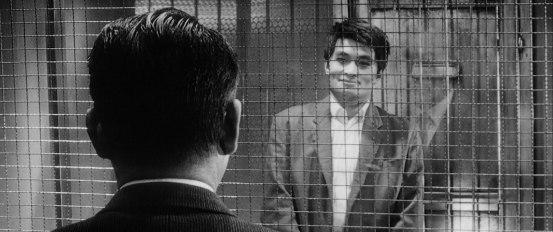 Gondo and Ginjirō finally meet on the same level. © 1963 – Toho Company. All Rights Reserved.